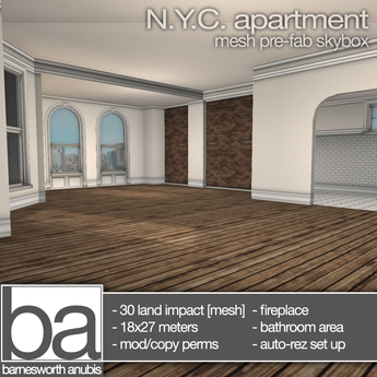 [ba] NYC apartment skybox only - packaged