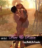 "::WetCat:: ""Fire & Rain"" couple pose"