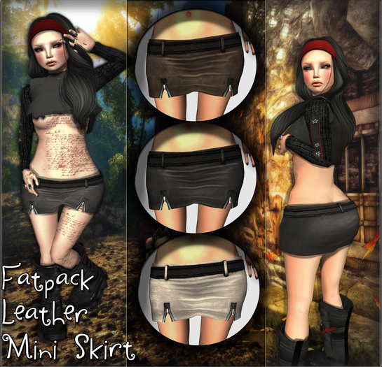 NS:: FATPACK LEATHER MINI SKIRT