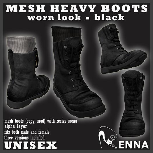 :ENNA: MESH BOOTS black