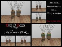 [EoD] End of Daze Lisboa Vases (Dark) MESH