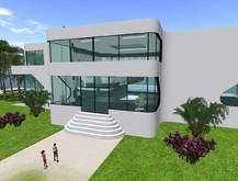 Pixels Futurist Mansion