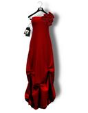 Chrysalis - Margot mesh long dress - red