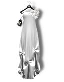 Chrysalis - Margot mesh long dress - white