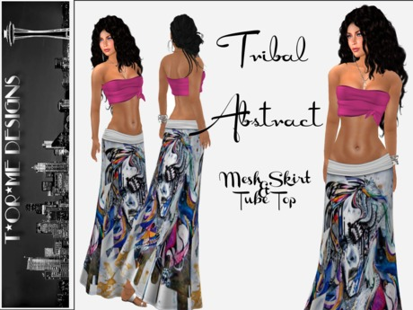 ::TorMe Designs:: Mesh Tribal Abstract Outfit
