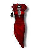 Chrysalis - Sharona mesh gown - red