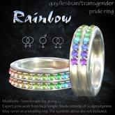 """""""Rainbow"""" gay / lesbian / transgender / bisexual pride ring"""
