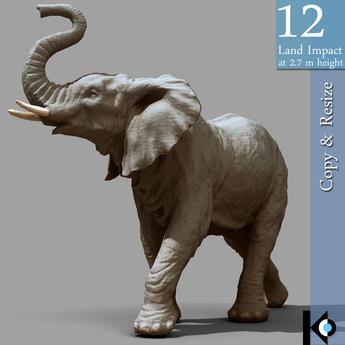 3D / Elephant Statue / 12 land impact
