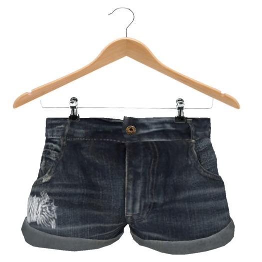 {.::LRH::.} Frayed Medium Denim Shorts *MESH*