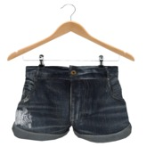 {.::LRH::.} Frayed Medium Denim Shorts *MESH*