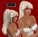 """EdelStore  woman hair """" Austin """" platinum super blonde wasserstoff blond ponytail model Pferdeschwanz Zopf cowgirl sweet"""