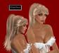 """EdelStore  woman hair """" Austin """" blonde ponytail Pferdeschwanz tail blond fantasy dancer model hair Haare rock&roll"""