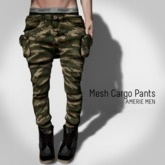AMERIE M - Mesh Cargo(Camo)