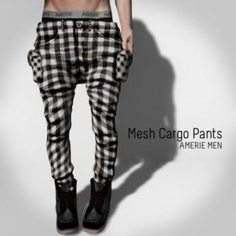 AMERIE M - Mesh Cargo(Gingham white)