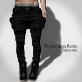 AMERIE M - Mesh Cargo(Black)