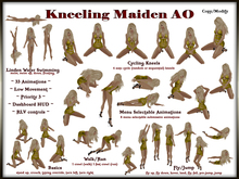 [SDA] Kneeling Maiden Female AO 33 kneeling animations in a HUD with RLV