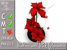 Terrashop - Ikebana with Red Poinsettia 100% original mesh