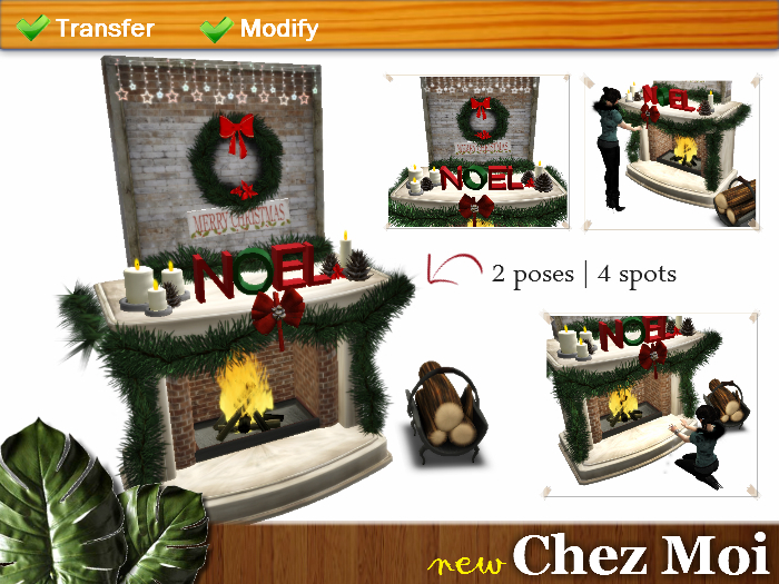 Decorated Fireplace Warm Christmas ♥ CHEZ MOI