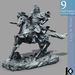 3D / Chinese General Statue / 9 land impact