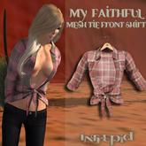 ::Intrepid:: My Faithful Flannel Tie Shirt {Red} {Mesh}