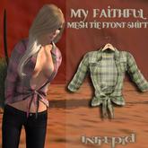 ::Intrepid:: My Faithful Flannel Tie Shirt {Green} {Mesh}