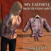 ::Intrepid:: My Faithful Flannel Tie Shirt {Pink} {Mesh}