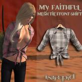 ::Intrepid:: My Faithful Flannel Tie Shirt {Black} {Mesh}