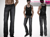 %50SUMMERSALE FULL PERM CLASSIC RIGGED MESH Men's Male Denim Classic Jeans Pants V.2 - 2 TEXTURES