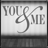 *~LT~* YOU & ME Wall Art Decal