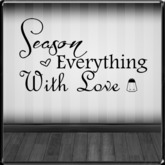 *~LT~* Season With Love Wall Art Decal