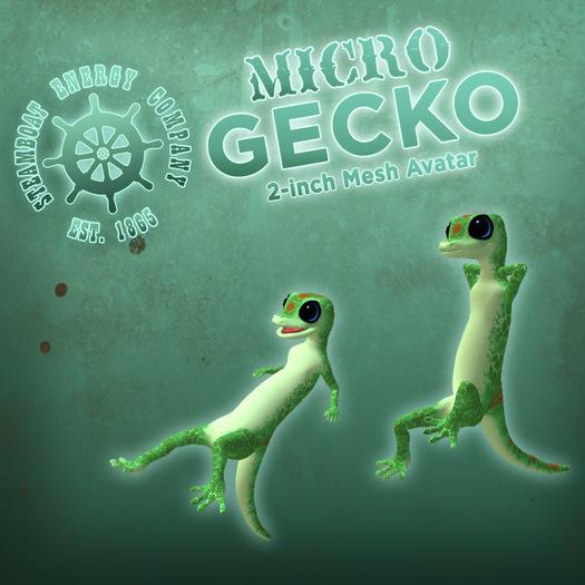 SEC Micro Gecko - 2-inch Mesh Avatar!