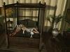 Mesh bed canopy hot fan glass 700