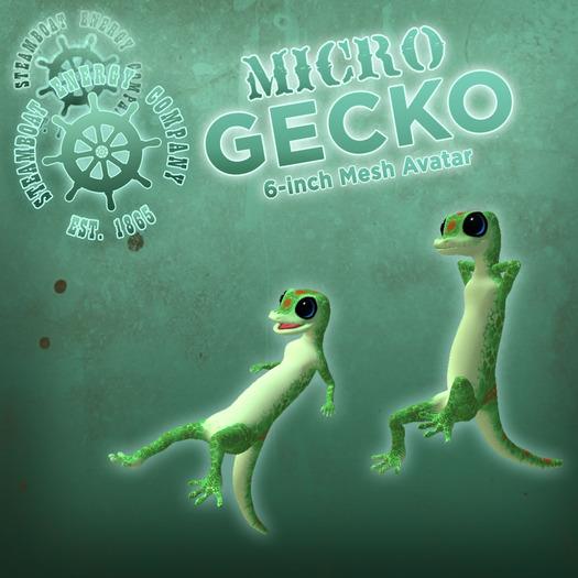 SEC Micro Gecko - 6-inch Mesh Avatar!