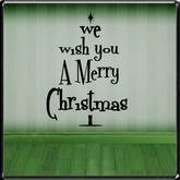 *~LT~* We Wish You A Merry Christmas Wall Art Decal