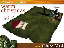 Warm Christmas Rug Green Multiposes ♥ CHEZ MOI