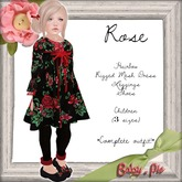 *Baby Pie* Rose Children's Rigged Mesh Outfit!  *Winter Almost Freebie Promotional Item!* 1L