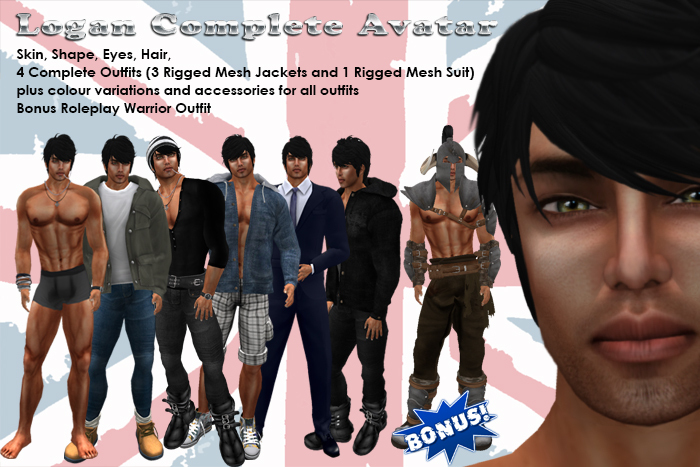 Logan Complete Avatar & Outfits (partial MESH) *Special Deal*