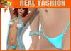 """Amore"" top, panties and bracelet Cyan set - Mesh"