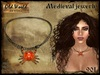 Medieval necklace with crab - Old World - Medieval / Fantasy / Rustic