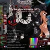 Sinful Needs Animated Mesh Anthro Tail - Fluffy Bare