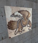 Ancient art - Eagle & snake mosaic