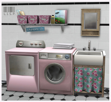LISP - Mesh - Laundry Room Pink