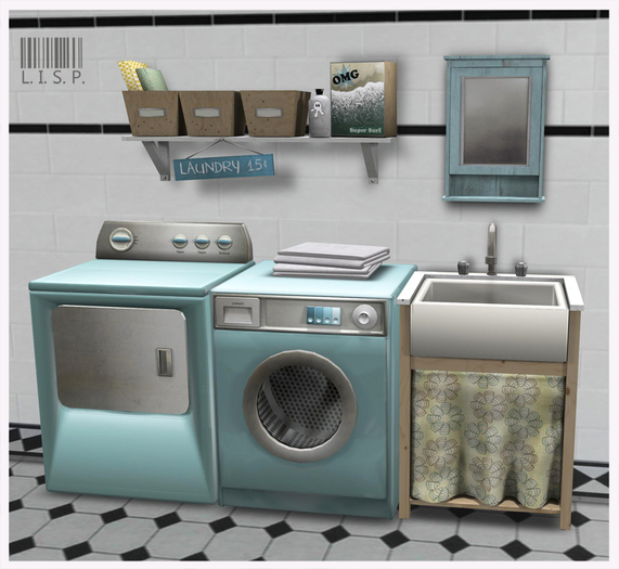 LISP - Mesh - Laundry Room Blue