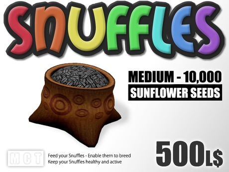 Snuffles Breedables Food - 10,000 Sunflower Seeds
