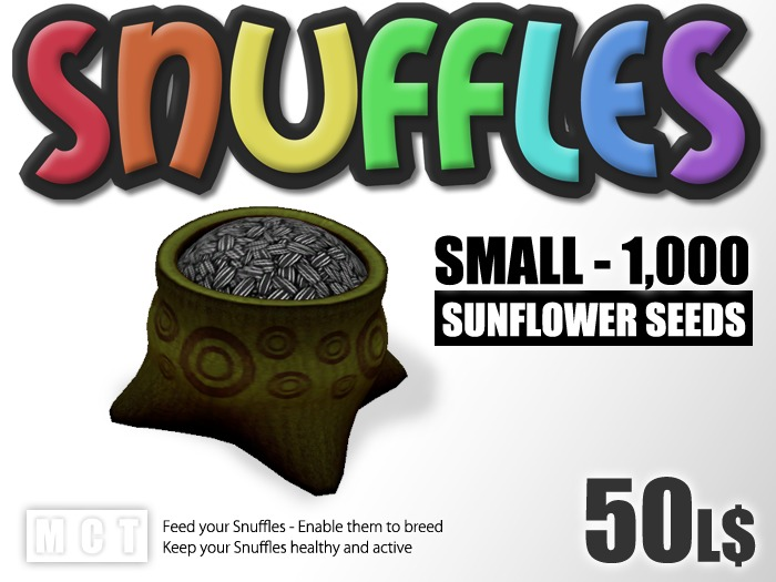 Snuffles Breedables Food - 1,000 Sunflower Seeds