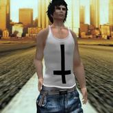 *PROMO* [AC].Acid Style. Inverted cross white shirt FULL MESH.