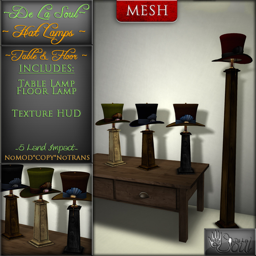 DLS~ Tophat Lamps - Table & Floor