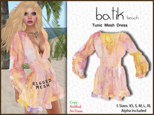*Soulglitter* Tunic Mesh Dress Batik - beach
