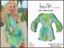 *Soulglitter* Tunic Mesh Dress Batik - meadow