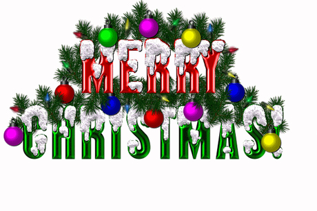 Merry Christmas Animated Sign